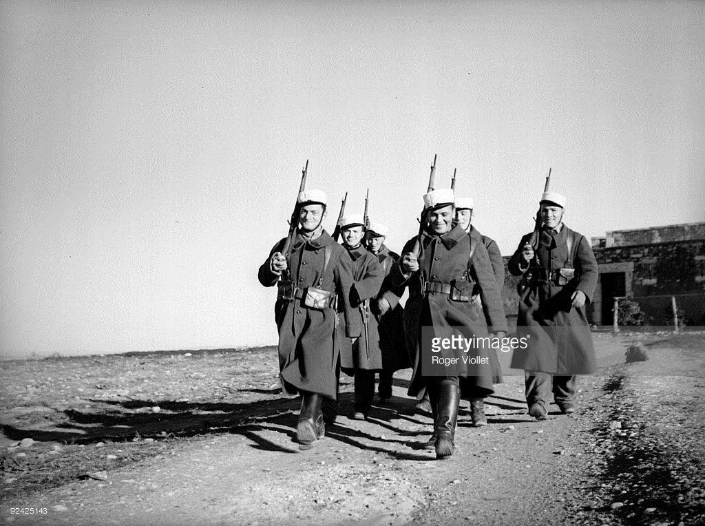Legionaries Marching Sidi Bel Abbes Algeria 1939 French Foreign Legion French Army Legion