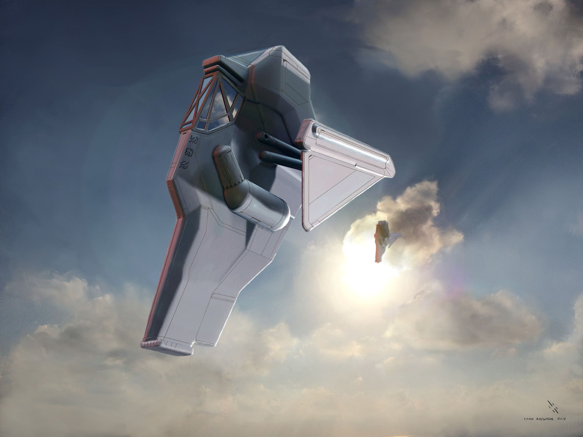 7B Surfacer Flying Vehicle Flying vehicles, Concept art