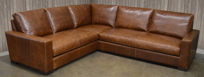 Leather Sectional Full Grain And Top Grain Leather Comes 133x133 Or 105x105 And 43 Red Leather Sofa Sectional Leather Sectional Sofas Leather Couch Sectional