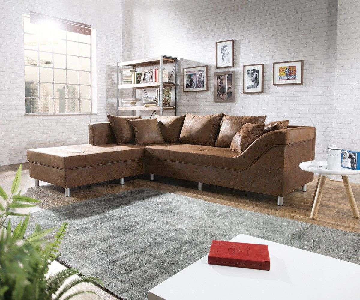 ecksofa alexon 260x208 cm braun wildlederoptik ot l in 2019 furniture sofa set large living