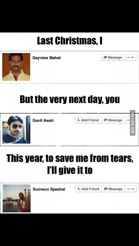 Last Christmas I Gayview Mahat.Last Christmas Funny Stuff Wham Last Christmas Lyrics