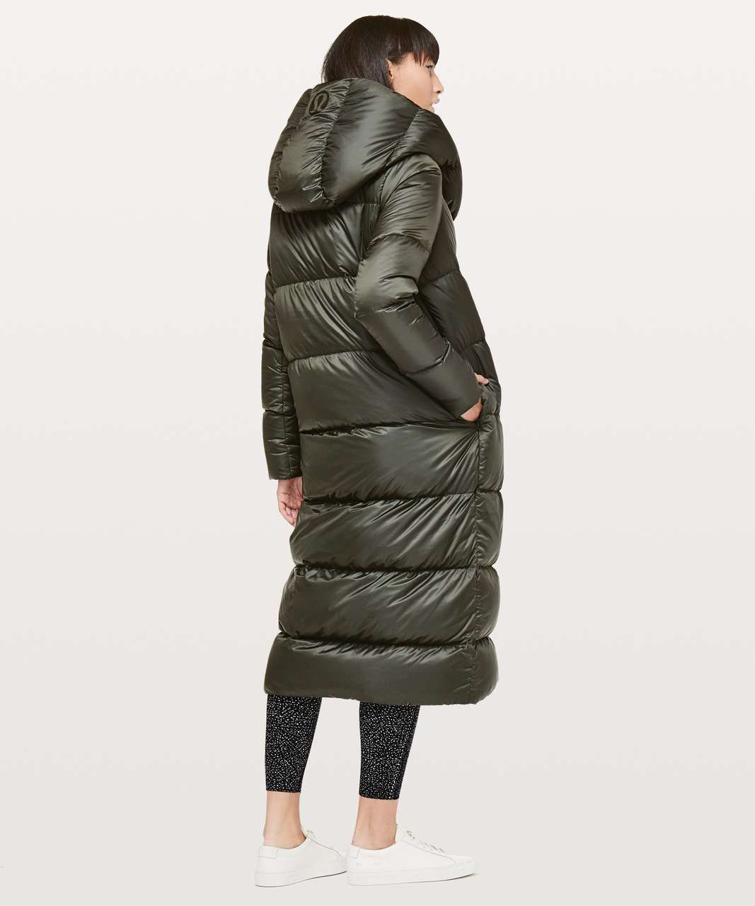 Lululemon Cloudscape Wrap Dark Olive Lulu Fanatics Puffer Jacket Long Coats Jackets Women Puffer Jacket Women [ 1280 x 1067 Pixel ]