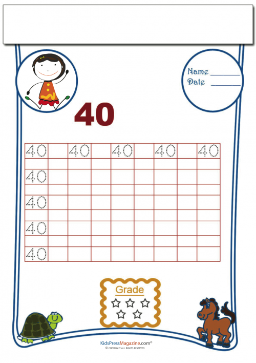 Printing Number 40 Numbers Printing Pinterest Numbers