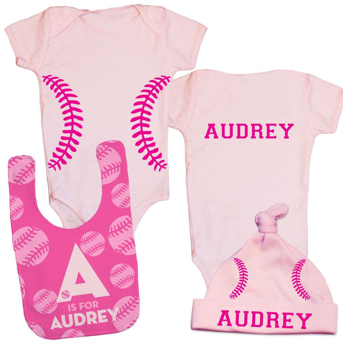 Baby baseball outfit personalized baseball baby gift infant girl baby baseball outfit personalized baseball baby gift infant girl gift set baby girl baseball gift negle Images