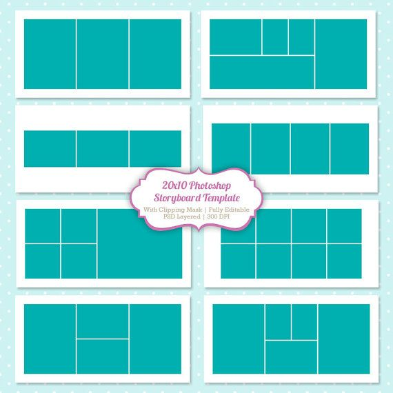 Instant Download Storyboard Photoshop Templates By Popuridesign