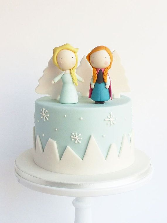 Frozen cake toppers buy now on Etsy Receive decorations in the