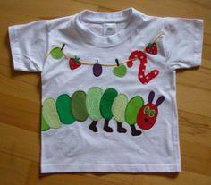 Unikat Susses Geburtstags Shirt M Applikation Kleine Raupe Gr 86