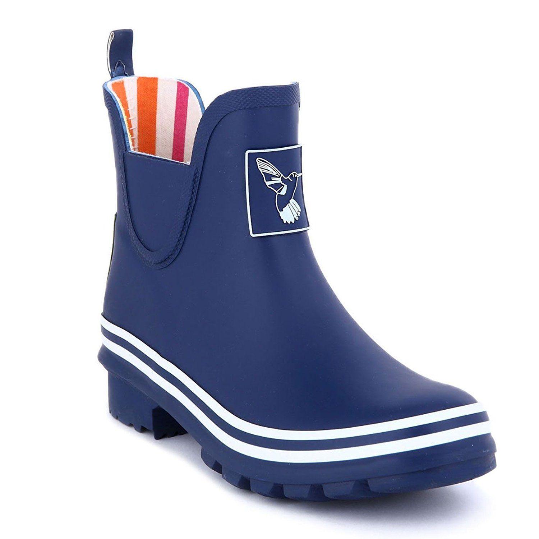 Women's Rain Boot Ankle Boots Waterproof Rain Footwear Cute Animal Print colorful Meadow Wellies UK Brand