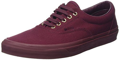 1232df9c4f Vans Unisex Era Unisex Sneaker In Gold Mono Port Royale in Size 6 men   7.5  women US (5 UK   38 EU) Burgundy