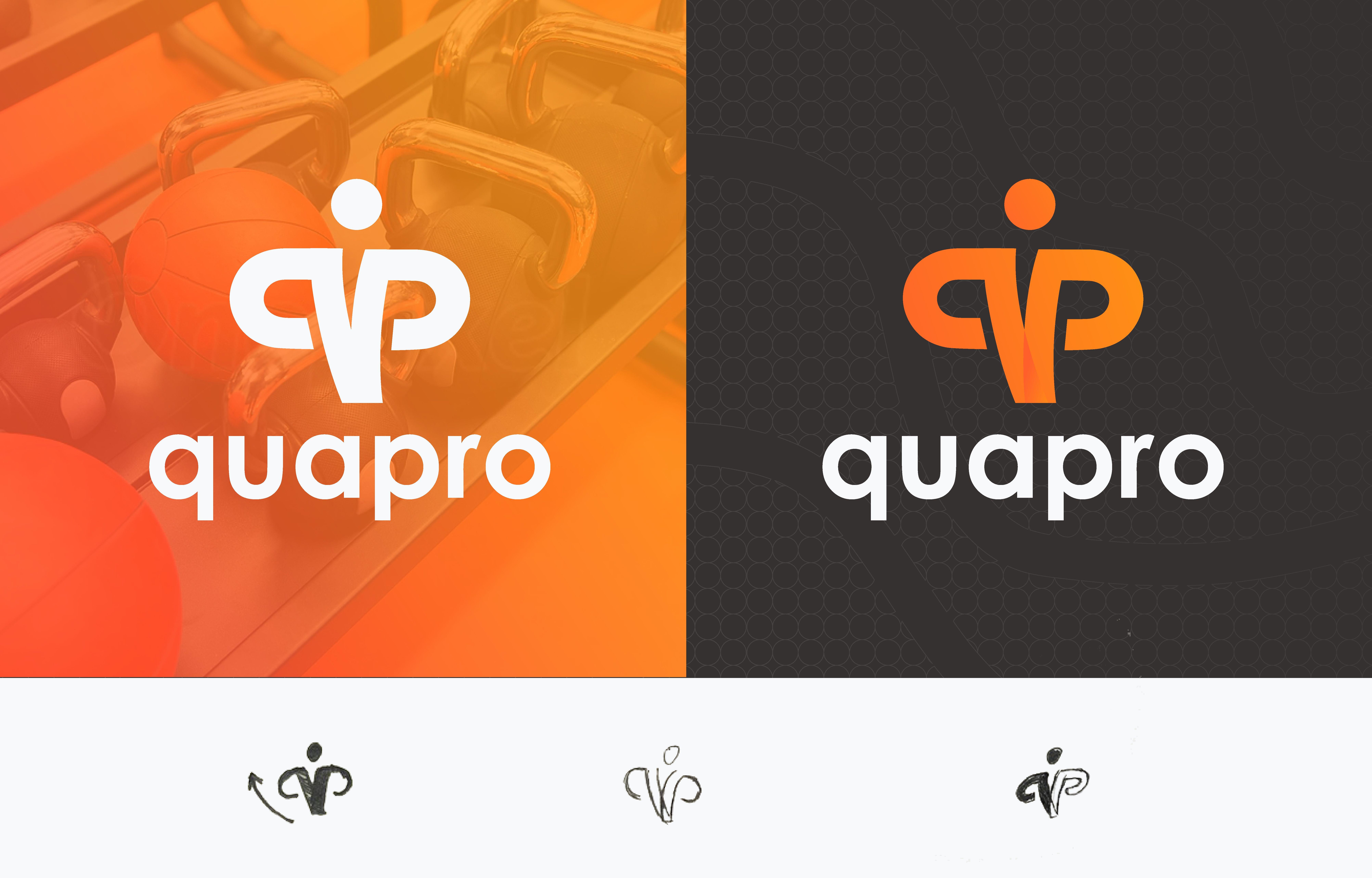 QP logo design for fitness company Logo design, Logos
