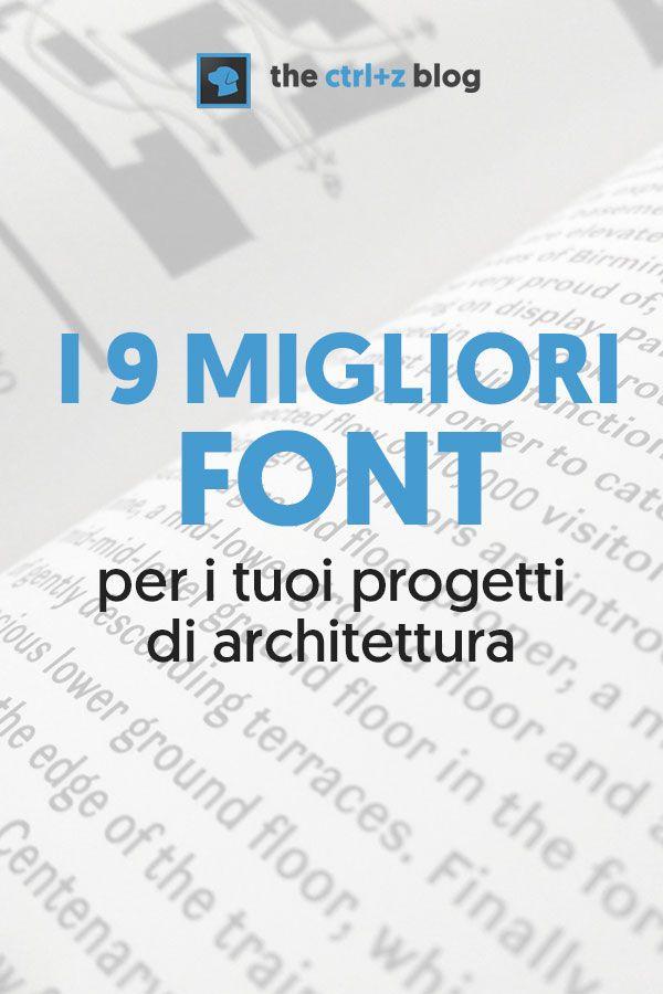 I 9 migliori font per l 39 architettura e come abbinarli for Blog di architettura