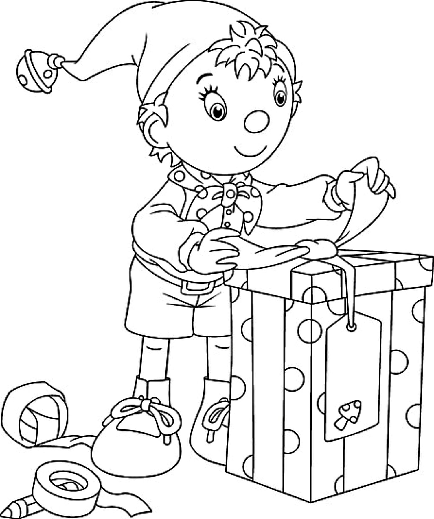 CHRISTMAS COLORING PAGE Santa Song And Free Printable Christmas Elf Coloring Page For Kids