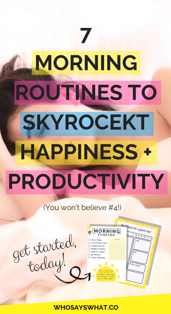 7 Morning Routine Tips For Happier + Productive Days #morningroutine