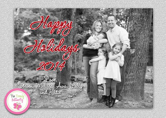 Photo Christmas Card  Holiday Card  Family by TheTrendyButterfly