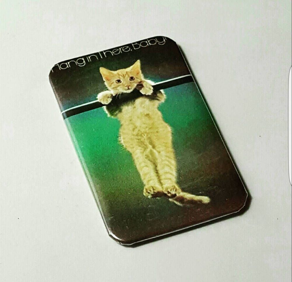 Hang In There Cat Poster Kitten Poster Lady Gift Mom Fridge Magnets Kitty Photos Cat Posters Hang In There Cat Gifts For Mom