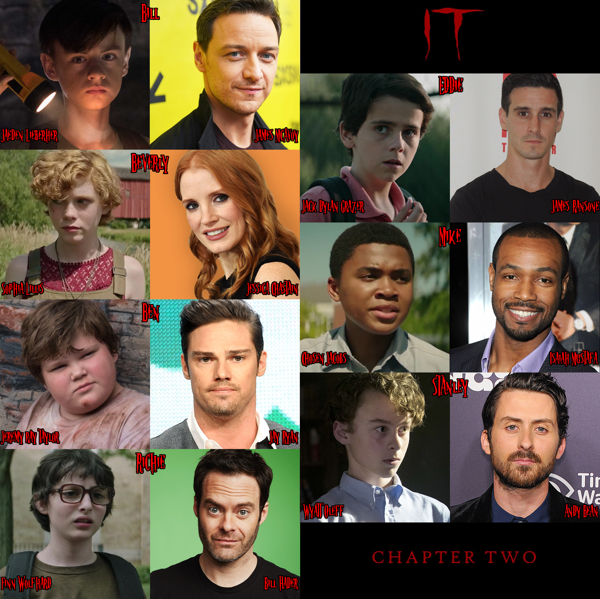 IT Chapter Two (Side by Side Casting) It movie cast, It
