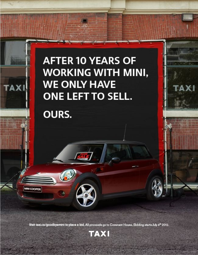 Taxi Auctions Off Its 2008 Mini Coupe After Losing Account Ads I