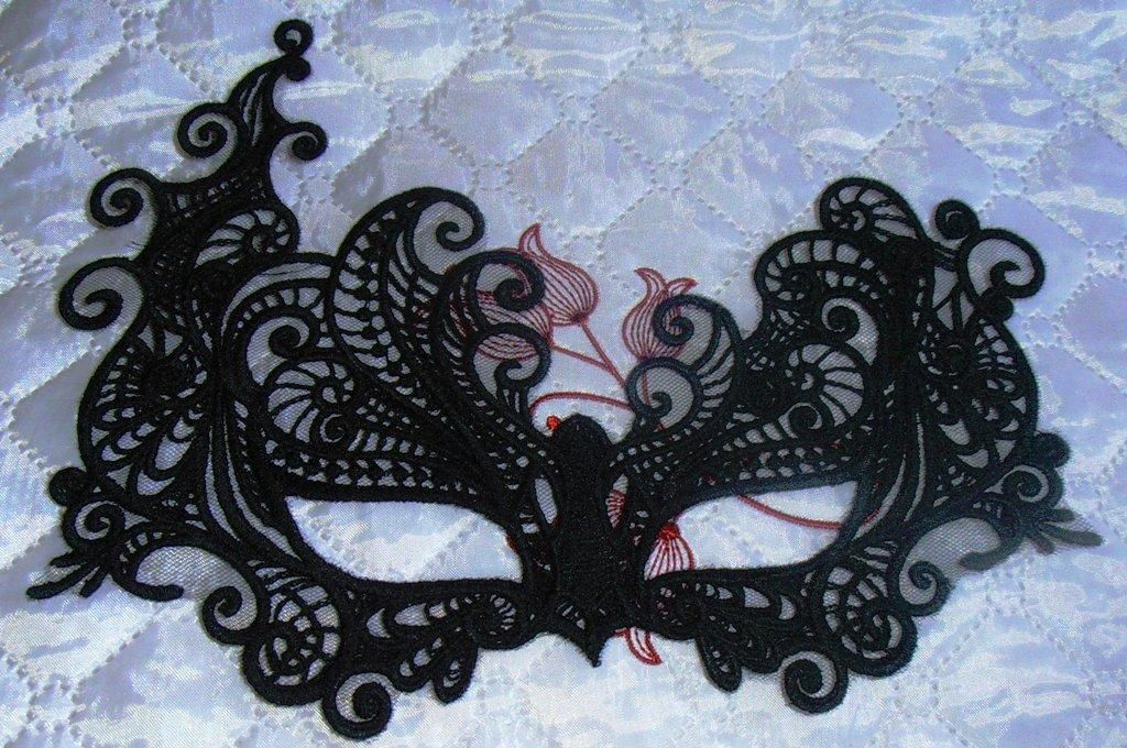 Mask Lace Fsl Embroidery Design Fsl Embroidery Designs Fsl