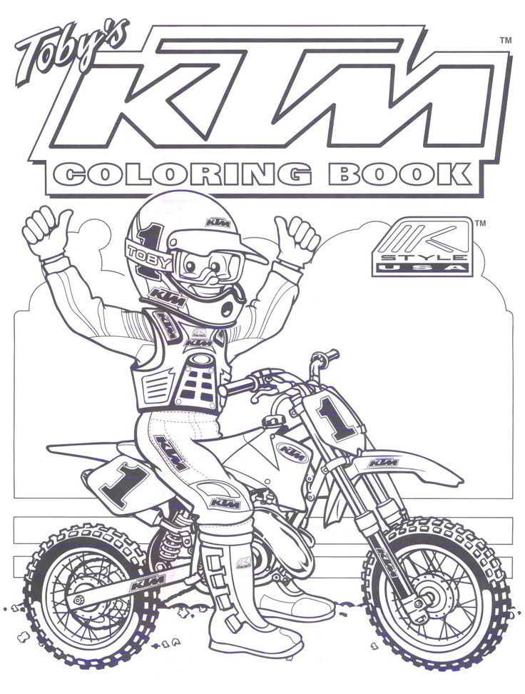 Ktm Dirt Bike Coloring Pages Moto Enfant Anniversaire Moto