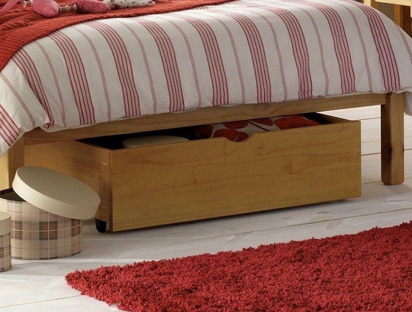 Pine Under Bed Storage Drawer Under bed storage boxes