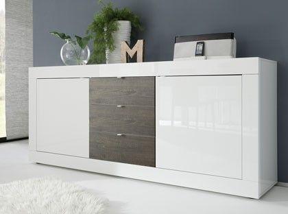 Credenza Moderna Con Led : Credenza moderna diana comò moderno bianco mobile soggiorno con