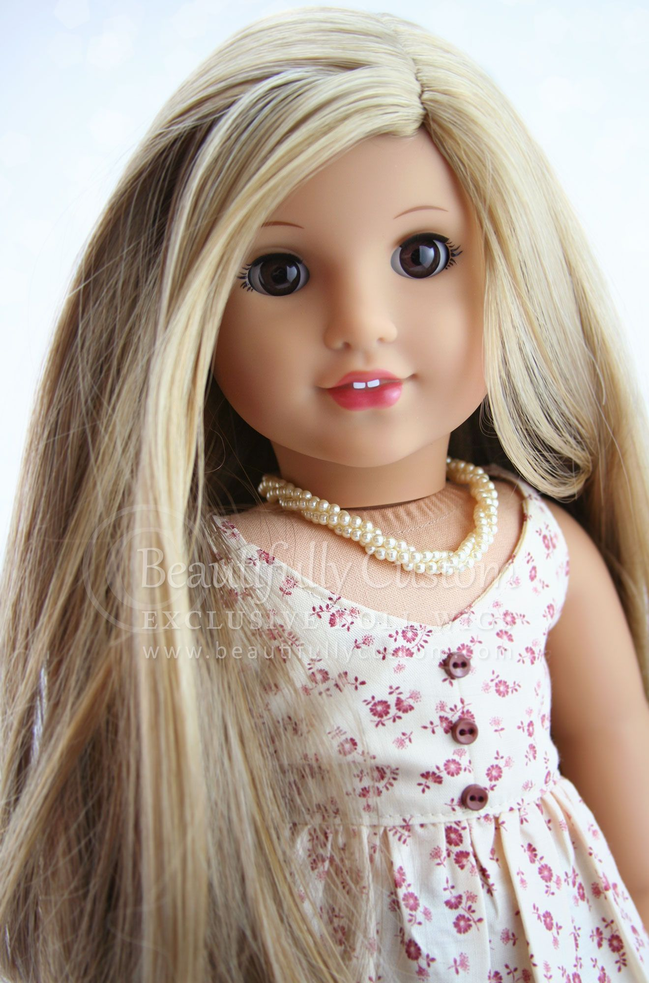 Sandy Blonde Elegance Doll Wig For Custom American Girl