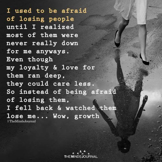 I Used To Be Afraid Of Losing People   Losing people
