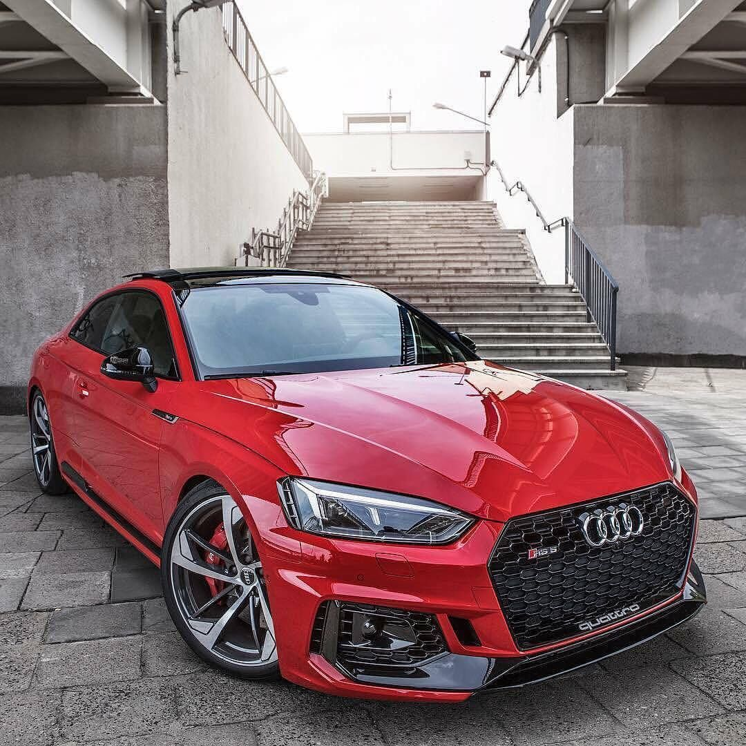 Stunning Red Color On The New Audi RS5 #audi #audirs5