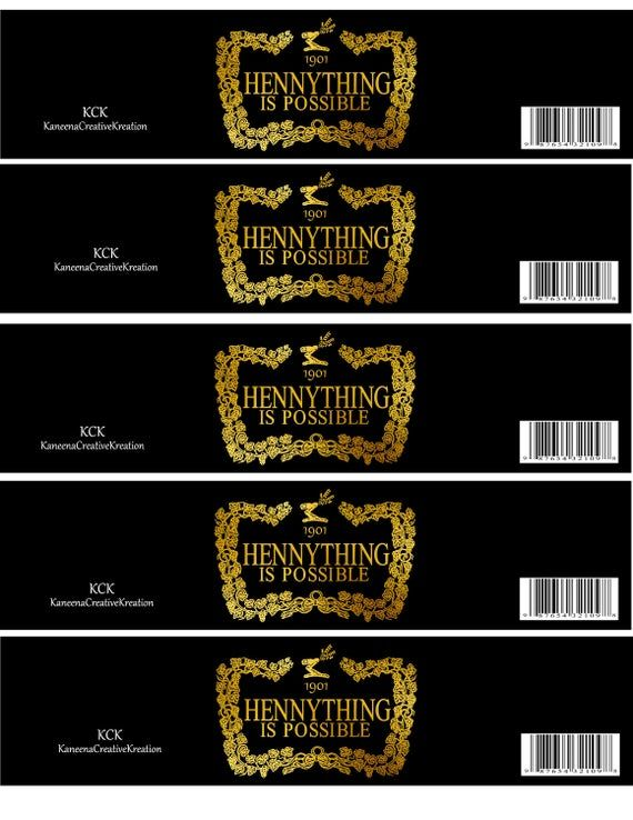 Blank Hennessy Label Template : blank, hennessy, label, template, Hennything, Possible, Water, Bottle, Labels/, Party, Favor/, Labels,, Label, Template,, Labels, Printable