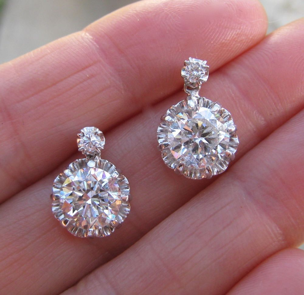 en fleurs earrings carrousel tales diamants avec boucles wheel gold de k diamond licates in oreilles d shape set p