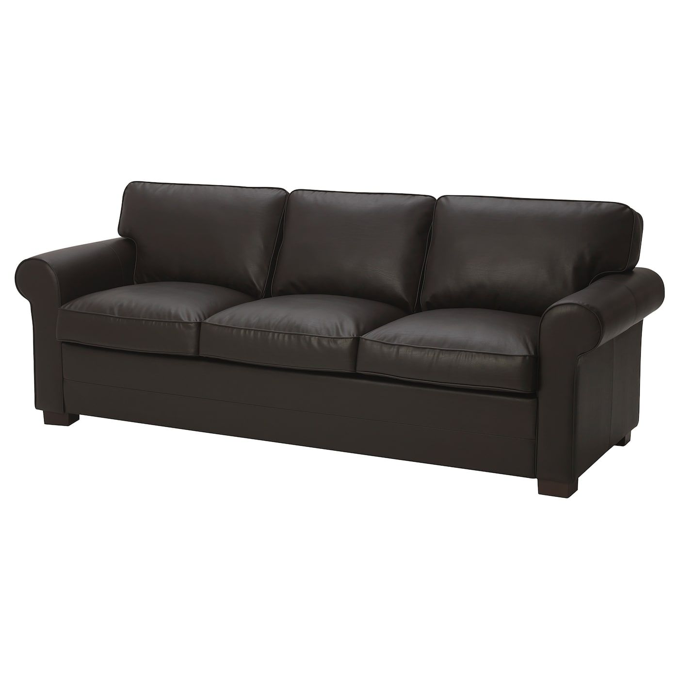 Ektorp 3 Seat Sofa Xl Skrea Dark Brown Sofa Ektorp Sofa Seating