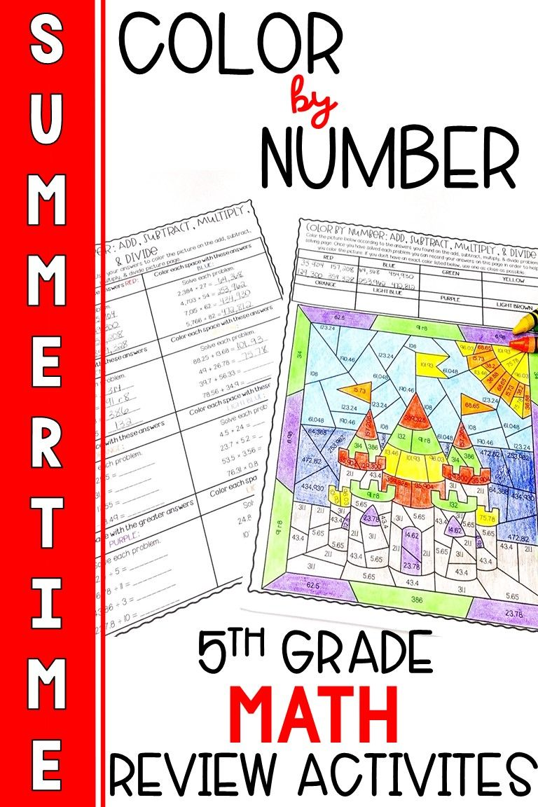 End of the Year 5th Grade Math Review Activities in 2020
