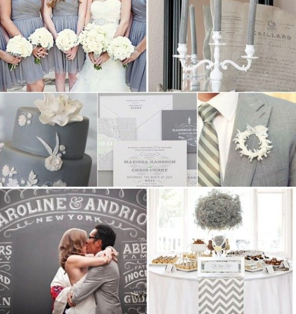Best Grey Wedding Color Schemes Pictures - Styles & Ideas 2018 ...