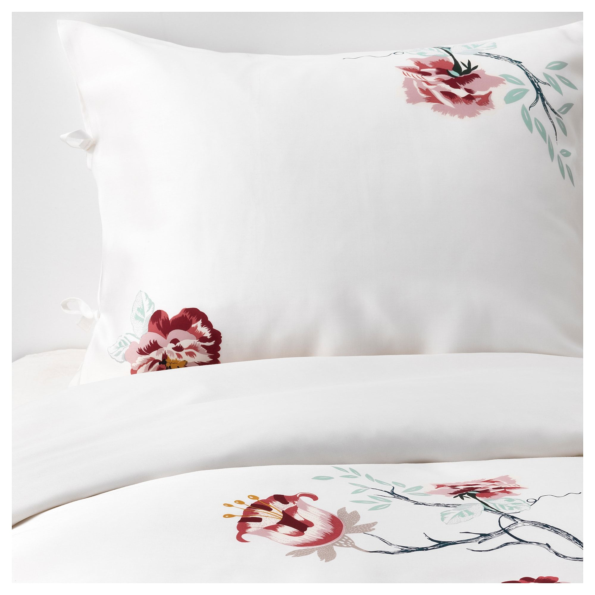 Ikea Jättelilja Housse De Couette Et Taie S Blanc à