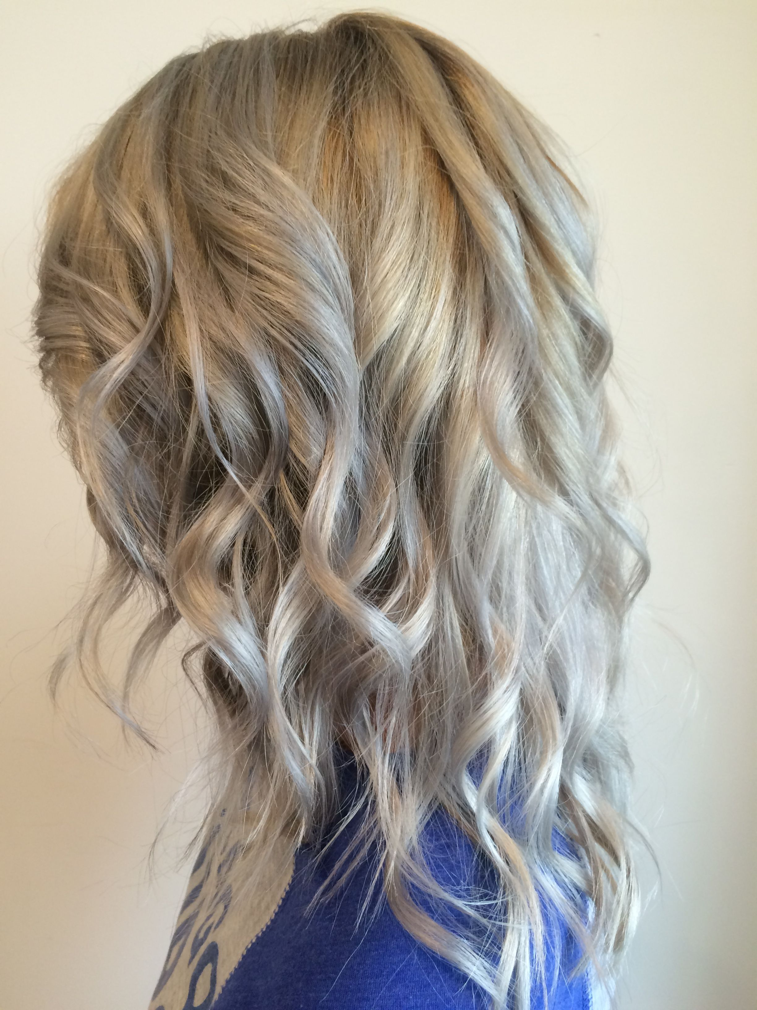 Hair Color Silver Toner With Low Light Natural Take On Blue Silver Hair Hair Color Long Hair Styles Silver Hair