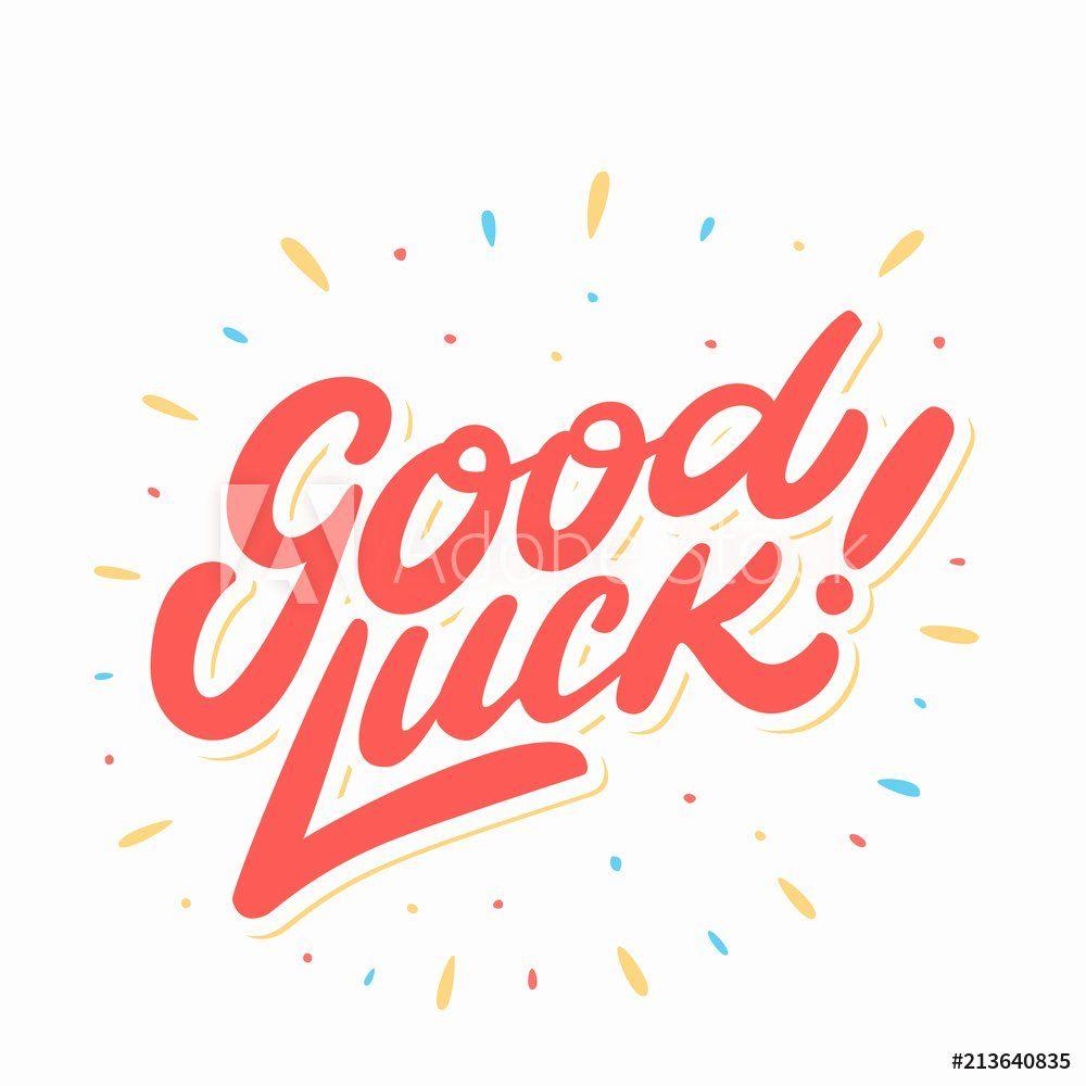 Good Bye Cards New Fotografija Good Luck Farewell Card Vector Lettering Na Good Luck Cards Farewell Cards Cards
