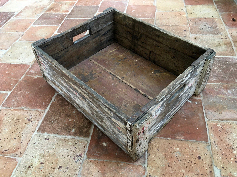 Caisse De Rangement En Bois French Vintage Industrial Wooden Box