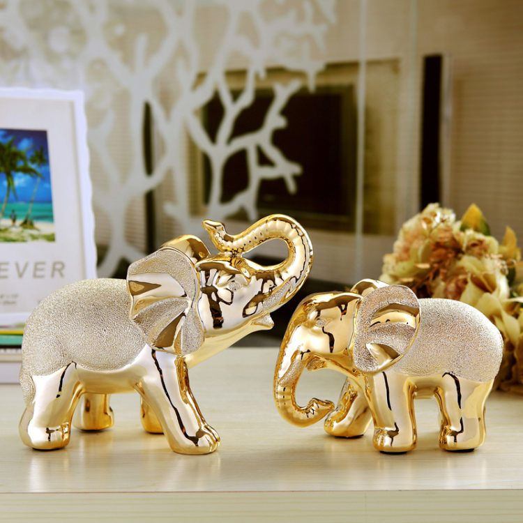 Aliexpress.com : Buy Creative Elegant Elephant desktop decoration pottery ornaments decorative gift ornaments gilded elephant, TNT Free Shipping from Reliable gift wallpaper suppliers on Jonlala's lovely store    Alibaba Group