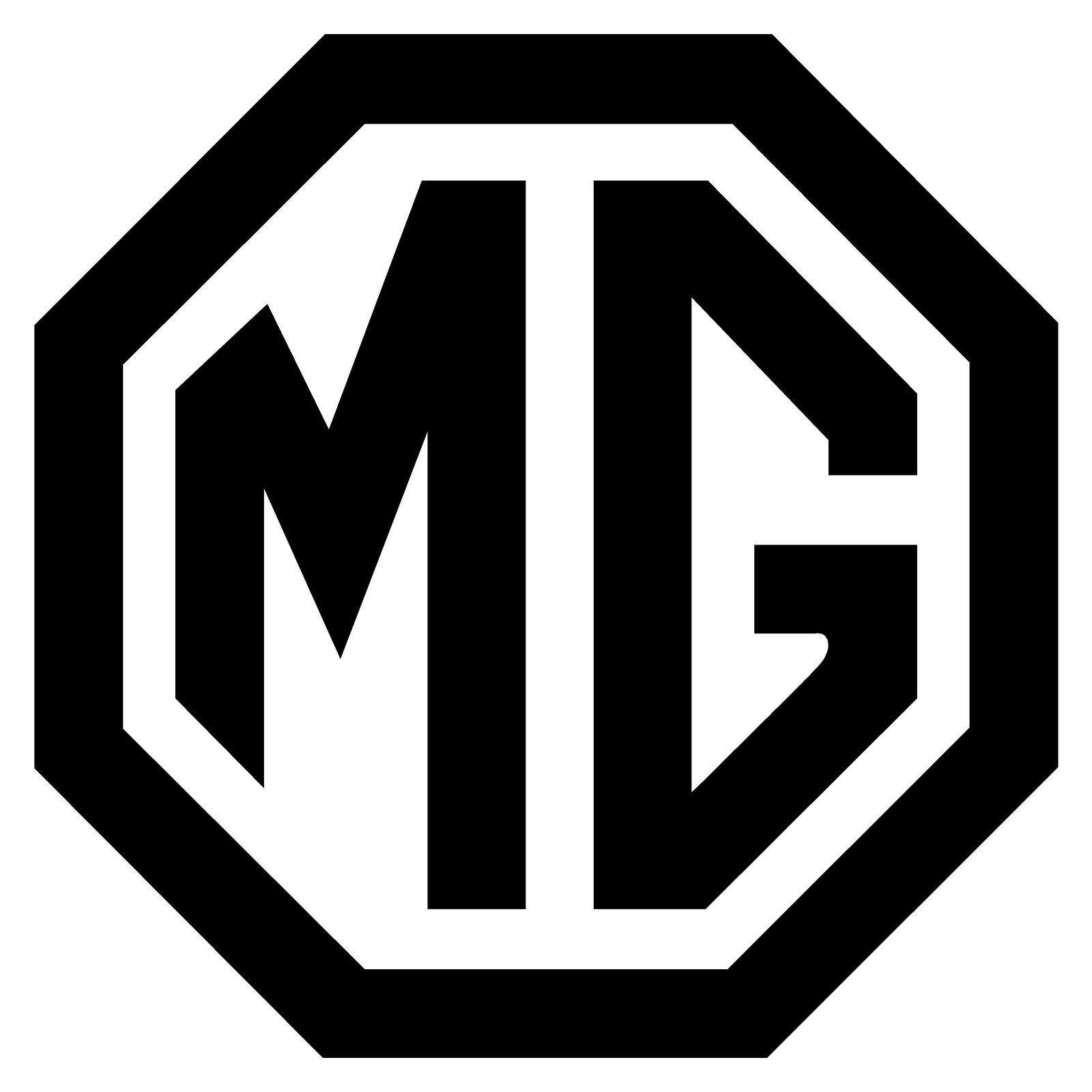 "MG Emblem Logo Decal Sticker Midget WHITE 2/"""