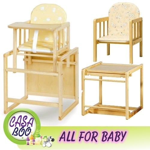 WOODEN HIGH CHAIR 3in1 - BABY - COMBINATION - PINE WOOD - HIGHCHAIR  sc 1 st  Pinterest & WOODEN HIGH CHAIR 3in1 - BABY - COMBINATION - PINE WOOD - HIGHCHAIR ...