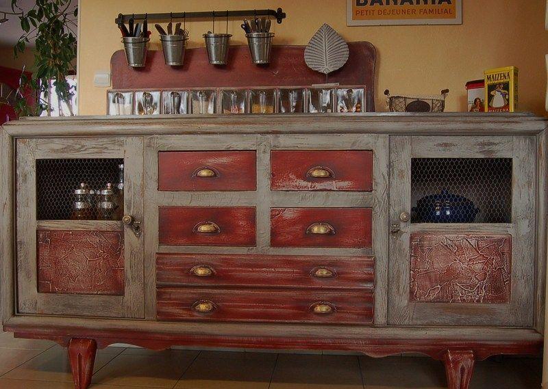 Enfilade Vintage Transformee En Labo Cuisine Deco Maison De Campagne Mobilier De Salon Decoration De Charme
