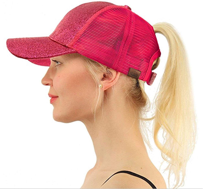 Saying Ponytail Messy High Bun Hat Ponycaps Baseball Cap Adjustable Trucker Cap Mesh Cap