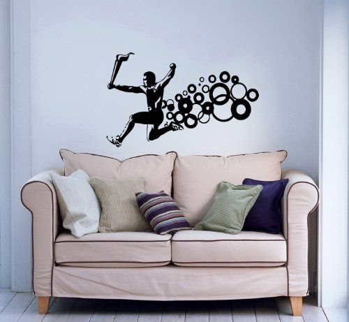 Wall Vinyl Decals Athlete Running with Torch Speed Sport Sportsman Sticker Art Home Modern Stylish Interior Decor for Any Room Housewares Murals Design Window Graphic Bedroom Living Room (5177) stickergraphics http://www.amazon.com/dp/B00IW7L37W/ref=cm_sw_r_pi_dp_u2qWtb0JZ9VKW3HA
