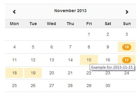 A lightweight, responsive jQuery availability calendar plugin used - sample monthly calendar