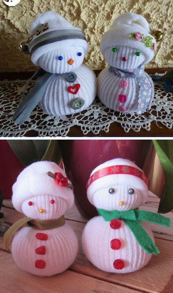 bonhomme de neige fait avec une chaussette visuels 31 cr ations d 39 hiver pinterest. Black Bedroom Furniture Sets. Home Design Ideas