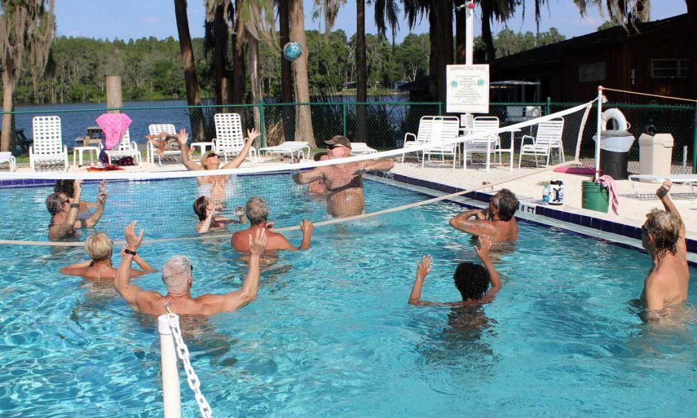 Family nudist resort nude