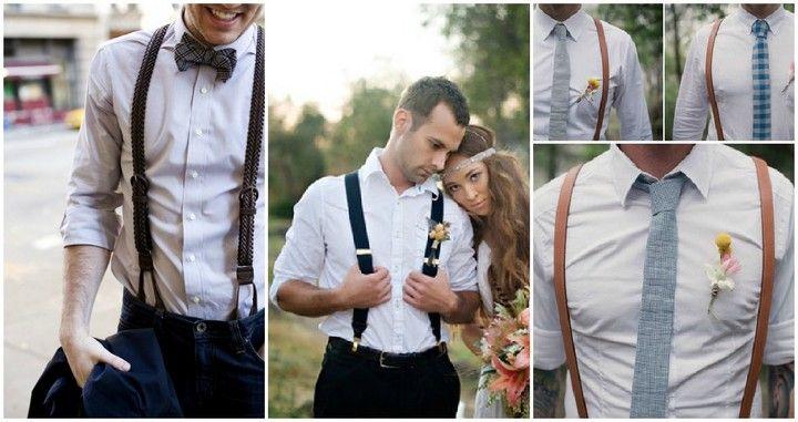 Verschillende bretels in heren outfits