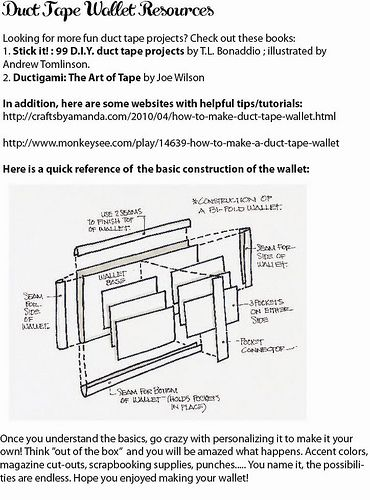 graphic regarding Duct Tape Wallet Instructions Printable identify Duct Tape Wallet Recommendations Printable Duct Tape Wallets