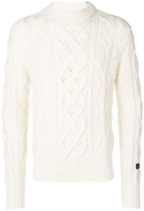 781da4842e53be Woolrich cable-knit sweater | Products in 2019 | Cable knit sweaters ...