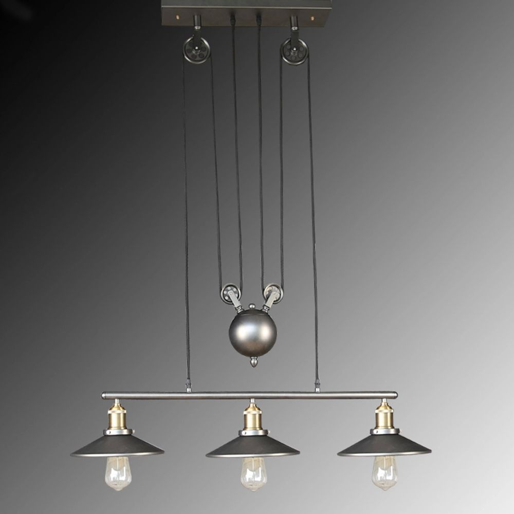 Find More Pendant Lights Information About Nordic Vintage Industrial Celling Adjustable Rope Iron Hang Painted Pulley Light Dining Room